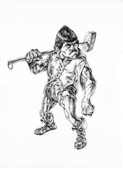 [Illustration] Le bourreau La-caillasse-crayon-noir